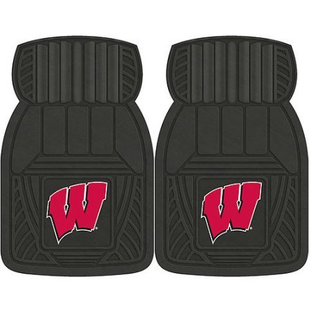 NCAA 4-Piece Front #36572605 and Rear #19888874 Heavy-Duty Vinyl Car Mat Set, University of Wisconsin by Sports Licensing Solutions LLC