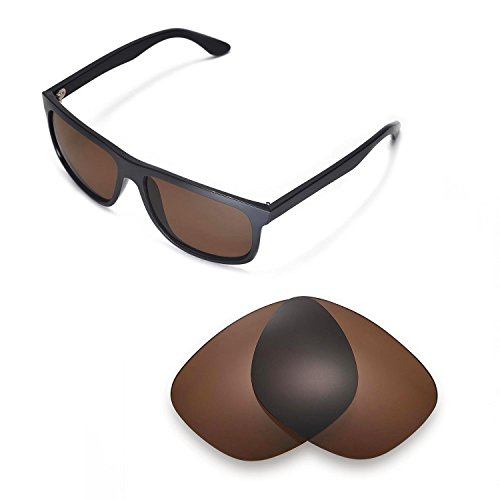Walleva Replacement Lenses for Ray-Ban RB4147 60mm - Multiple Options (Brown - - Rb4147 Brown Polarized