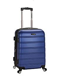 Rockland Luggage Melbourne Expandable Carry On, Blue, 20-Inch
