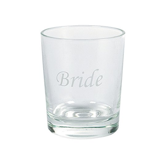 Etched glass wedding party shot glasses 1 dz bridesmaid for Etched glass wedding gifts