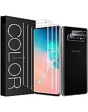 G-Color 3 Pack Screen Protector for Galaxy S10, [Fingerprints Sensor Compatible][Case Friendly][Flexible TPU Film][Not Glass] Screen Protector for Samsung Galaxy S10