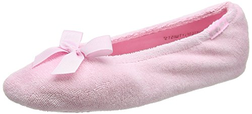 Chaussons Femme Slipper Bow Isotoner Ballet Terry with Spot ABnFqYx