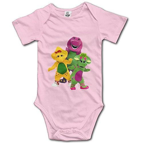 Barney And Friends Unisex Short Sleeve Bodysuit Romper For -