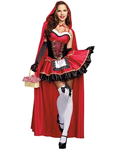 Dreamgirl Women's Little Red Riding Hood Costume, -