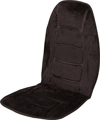 Deluxe Seat Heated Car Cushion - Relaxzen Deluxe Heated Car Seat Cushion with Built-In Thermostat and Auto Shut-Off, Black