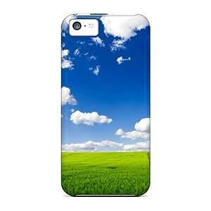 New Cute Funny Green Field Vs Blue Sky Case Cover/ Iphone 5c Case Cover