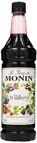 Monin Flavored Syrup, Wildberry, 33.8-Ounce Plastic Bottle (Pack of 4)