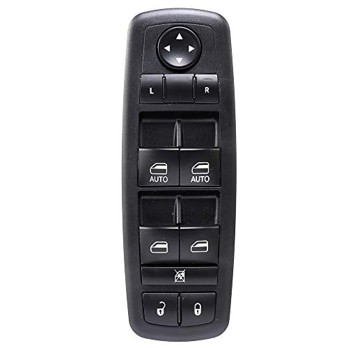 AUTOMUTO Fits for 2011-2014 Dodge Charger 4-Door 2016 Ram 1500 2500 3500 4500 5500 4-Door Power Window Switch Driver Side Master Control Switch Factory Replace OE 68231805AA 68139805AB 68139805AA ()