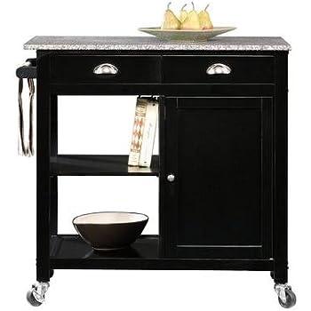 Amazon.com - Better Homes and Gardens Kitchen Cart, Black/Granite ...