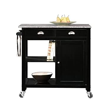 Better Homes and Gardens Black/Granite Kitchen Cart & Islands