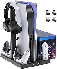 Suporte de ventoinha de refrigeração para console PlayStation 5 e PlayStation 5 Digital Edition, estação de ca