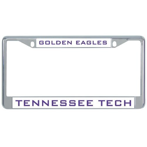 Tennessee Tech Metal License Plate Frame in Chrome Golden Eagles 12