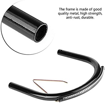Curved tube-230mm Motorcycle Rear Seat Frame Motorcycle Rear Seat Frame Loop Hoop Bracket DIY Accessory