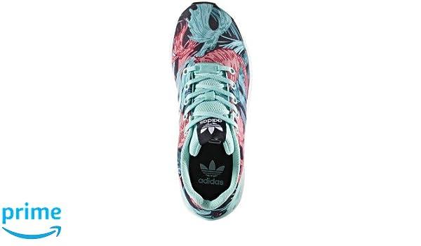 info for 20cef a5955 adidas Originals Girls' ZX Flux J Running Shoe, Energy Aqua/White, 7 Medium  US Little Kid