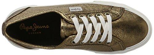Pepe Jeans Damen Aberlady Voldaan Sneaker Goud (brons)