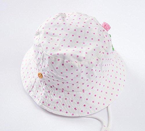12aa1d4cea9 Amazon.com  Kid Girl s Sun Hats Little Girl s Sunmmer Hats Bucket Fisherman  Hat 0-6t  Clothing