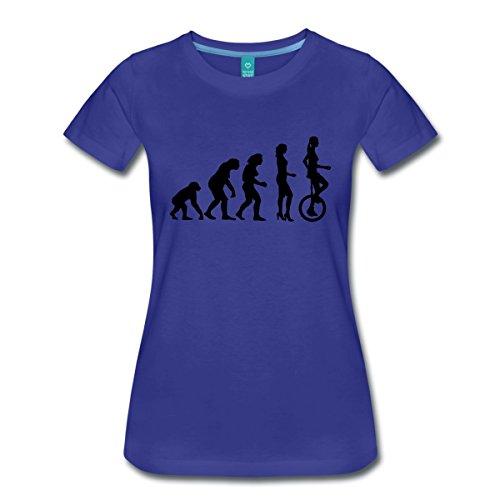Evolution Einrad Frauen Premium T-Shirt von Spreadshirt, M, Königsblau