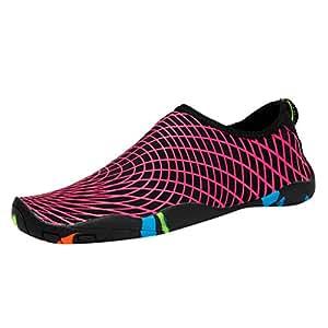 e69b3838d1e3 Amazon.com: KUNAW Mens Womens Water Shoes Barefoot Slip-on Wide Feet ...