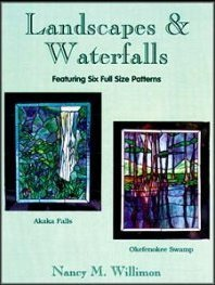 LANDSCAPES AND WATERFALLS Stained Glass Pattern Book