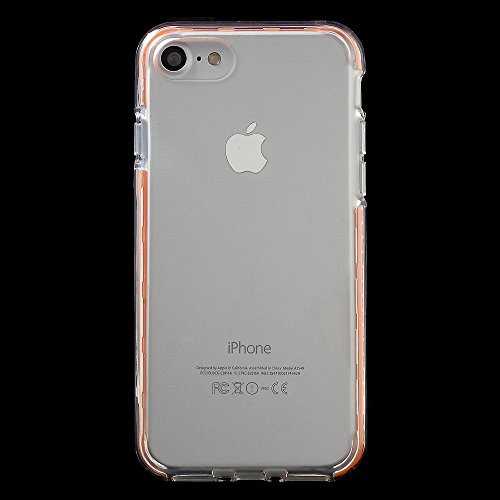 X-FITTED Colorful Stripe TPU Gel Tasche Hüllen Schutzhülle Case für iPhone 7 4.7 inch - Orange