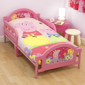 Ready Steady Bed Kids Peppa Pig Adoreable Toddler Junior Cot With Mattress