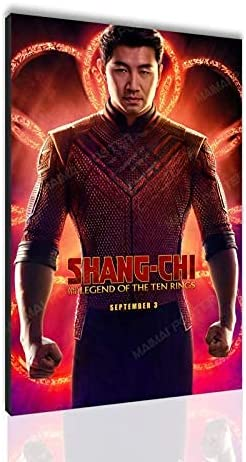Shang-Chi and The Legend of The Ten Rings Poster Simu Liu Canvas Painting Gift Wall Art Decoration Painting SANTA RONA (No Frame,24x36inch)