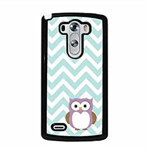 Owl Mint Chevron LG G3 Protective Cell Phone Cover Case - Fits LG G3 by ruishername