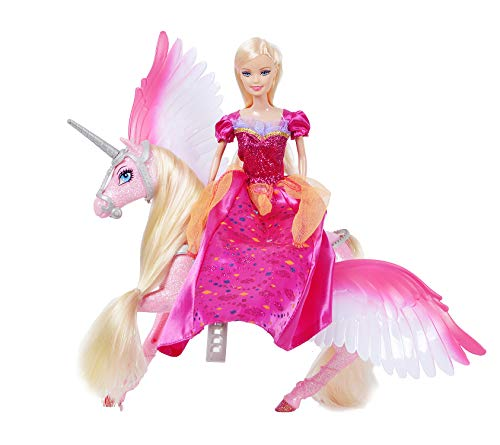 Bettina Princess Doll and Unicorn, Sparkle Unicorn Toys 'n Fashion Doll Set, Unicorn Doll for Girls, Pink -