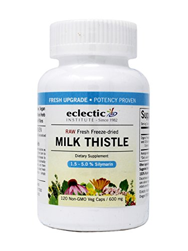 Milk Thistle Seed 600mg Freeze-Dried Organic - 120 - VegCap