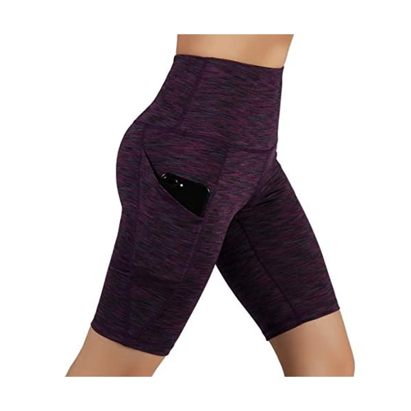 ODODOS High Waist Out Pocket Yoga Short Tummy Control Workout Running Athletic Non See-Through Yoga Shorts 15