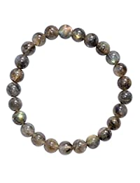 "CHARGED Premium Grade 6.5"" Labradorite Crystal 7mm Bead Bracelet HEALING ENERGY REIKI by ZENERGY GEMS"
