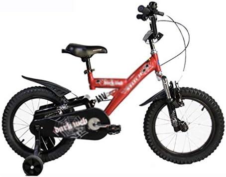 Bicicletas niños de 3-8 años de Edad, carruaje Masculino y Femenino, 16 Pulgadas de Choque, Doble Freno, Seguridad de operación (Color : Red, Size : 16inch(113 * 16 * 55cm)): Amazon.es: Hogar