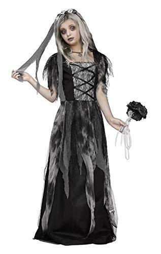 Fancy Me Disfraz de Novia Muerta para niñas, de 7 a 14 años, con ...