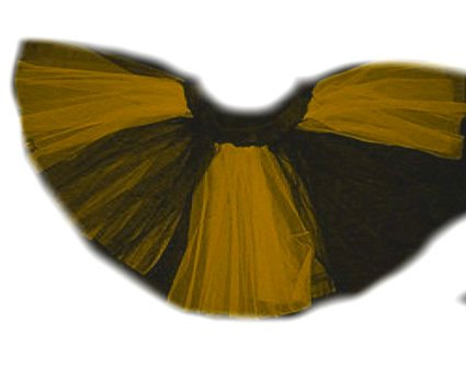 Halloween Shipping Free (Plus Size Yellow Black Stripe 2 Layer Tutu Dance Halloween Free)