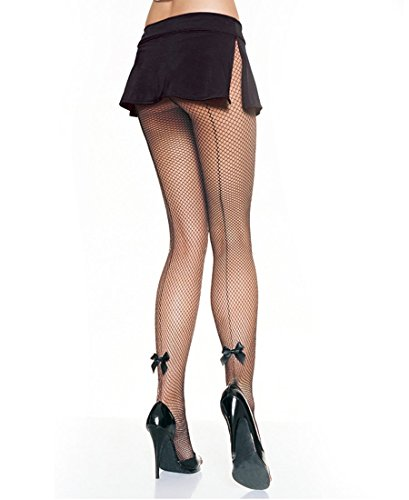 Leg Avenue 9033 Women's Lycra Industrial Fishnet Tights Pantyhose - One Size - Black