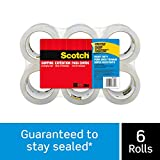 "Scotch Heavy Duty Shipping Packaging Tape, 1.88"" x 54.6 Yards, 3"" Core, Clear, Great for Packing, Shipping & Moving, 6 Rolls (3850-6): more info"