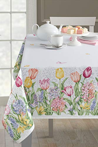 Benson Mills Fiona Spillproof Easter Tablecloth Indoor/Outdoor Use (Finoa, 60