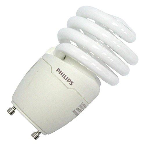 Philips Lighting 454173 T2 Spiral Energy Saver Compact Fluorescent Lamp 18 Watt GU24 Base 1250 Lumens 84 CRI 4100K