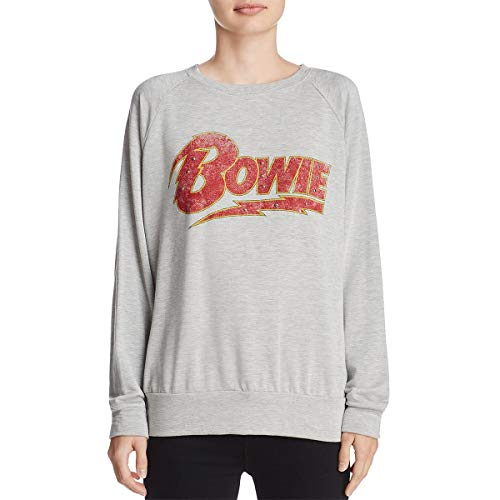 - DAYDREAMER Womens Bowie American Tour Graphic Studed Sweatshirt, Crew Gray XS