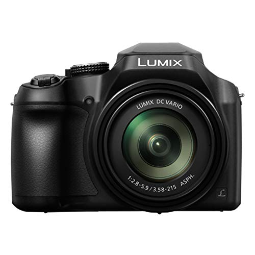 Panasonic LUMIX FZ80 4K Point and Shoot Long Zoom Camera with 18.1 Megapixels, 60X DC Vario 20-1200mm Lens, F2.8-5.9, 4K 30p, Power O.I.S Wi Fi (Renewed)