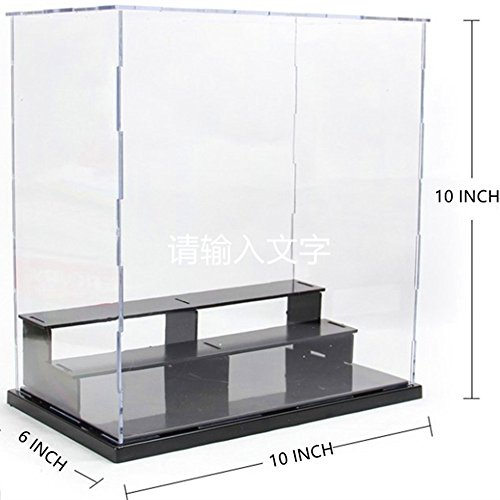 KENGEL 10x6x10 Inch Assembly Transparent Clear Acrylic Toys Three layers Display Dustproof Protection Showcase Case Box ()