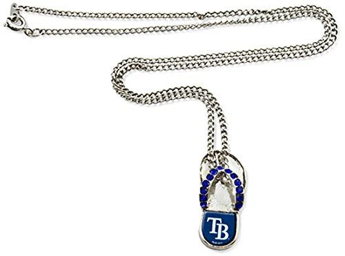MLB Tampa Bay Crystal Flip Flop Necklace