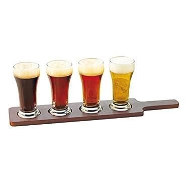 Libbey Craft Brews Beer Flight 6-Ounce Clear Pilsner Glass Set, 5-Piece
