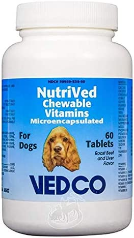 Vedco NutriVed Chewable Vitamins 60 Tablets for Dogs