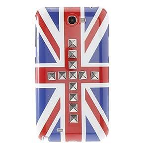 Caso Inglés Flag Diseño De nuevo para Samsung N7100