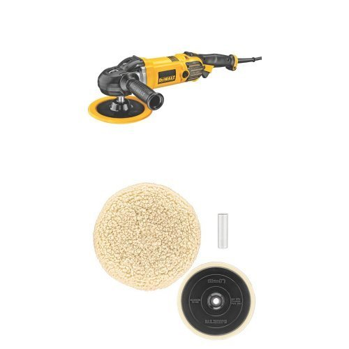 DEWALT DWP849 X 7-Inch/9-Inch Variable Speed Polisher with Soft Start w/DW4985CL Wool Buffing Pad and Backing...