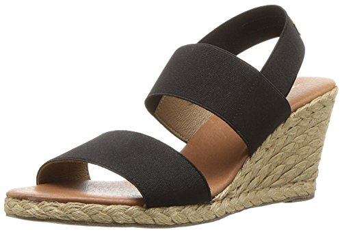 Allison Sandal (Andre Assous Women's Allison Espadrille Wedge Sandal, Black, 7 M US)