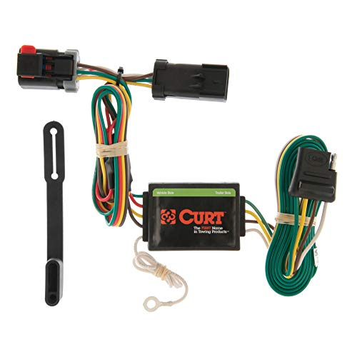 CURT 55376 Vehicle-Side Custom 4-Pin Trailer Wiring Harness for Select Chrysler Town and Country, Dodge Caravan, Plymouth -