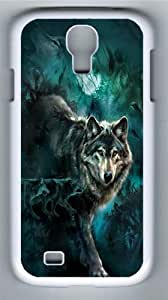 Night Wolves Collage Polycarbonate Hard Case Cover for Samsung Galaxy S4/Samsung Galaxy I9500 White