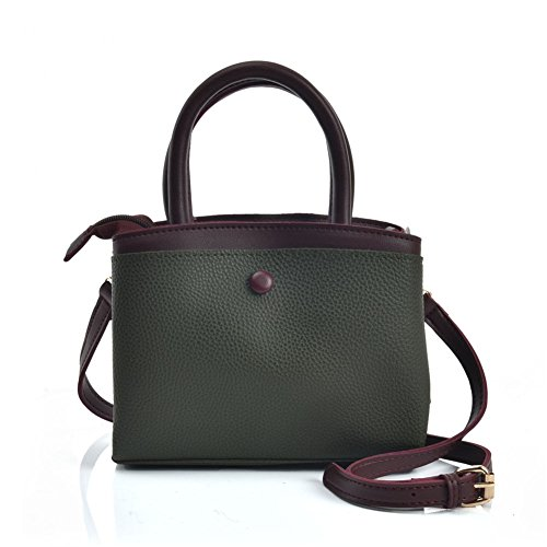 Fashion Tote Leather Bag Women's Young Green Sally Pu Shoulder Messenger 6qw57Sn1